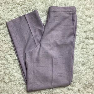 Alfred Dunner Lavender High Waisted Pants Size 8P